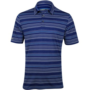 Ashworth EZ-TEC2 Performance EZ-SOF Stripe Heathered Shirt Polo Short Sleeve Apparel