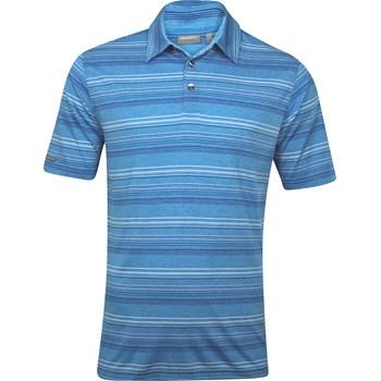 Ashworth EZ-TEC2 Performance EZ-SOF Stripe Heathered Shirt Polo Short Sleeve Apparel