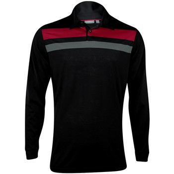 Ashworth Performance EZ-SOF L/S Engineer Chest Stripe Shirt Polo Long Sleeve Apparel