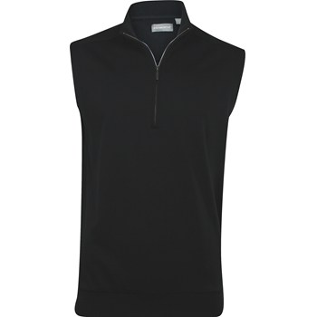 Ashworth Mesh Back Fleece Half-Zip Outerwear Vest Apparel