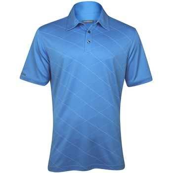 Ashworth EZ-TEC2 Performance Double Knit Front Panel Print Shirt Polo Short Sleeve Apparel