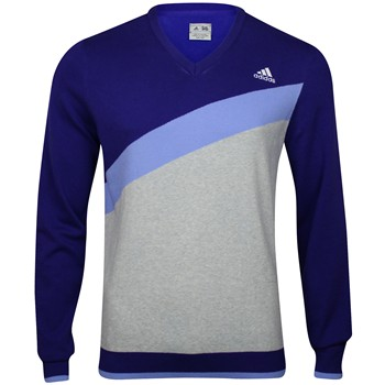 Adidas Angular Heathered Blocked Sweater V-Neck Apparel