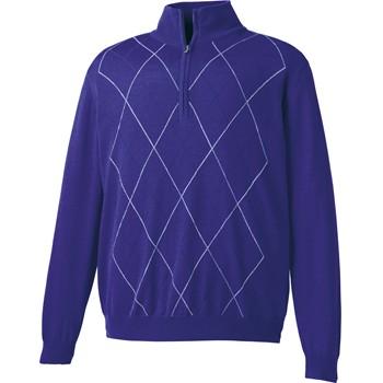 FootJoy Merino Performance Argyle Half-Zip Sweater Outerwear Pullover Apparel
