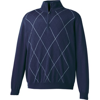 FootJoy Merino Performance Argyle Half-Zip Sweater Outerwear Pullover Apparel