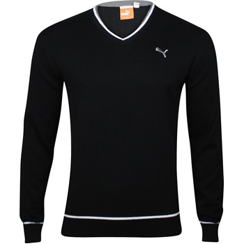 Puma Solid Cotton Sweater V-Neck Apparel