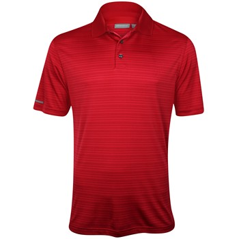 Ashworth EZ-TEC2 Performance Interlock Shadow Stripe Shirt Polo Short Sleeve Apparel