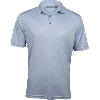 Ashworth EZ-TEC2 Performance Interlock Shadow Stripe Shirt Polo Short Sleeve Apparel