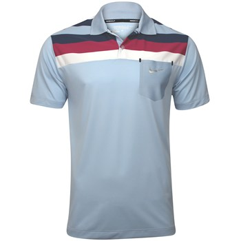 Nike Dri-Fit Fashion Stripe Pocket Shirt Polo Short Sleeve Apparel