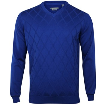Ashworth Diamond Texture Sweater V-Neck Apparel