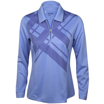 Adidas ClimaLite Long Sleeve Argyle Print Shirt Polo Long Sleeve Apparel