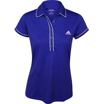 Adidas ClimaLite Solid Piped Shirt Polo Short Sleeve Apparel