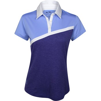 Adidas ClimaLite Angular Stripe Heather Shirt Polo Short Sleeve Apparel