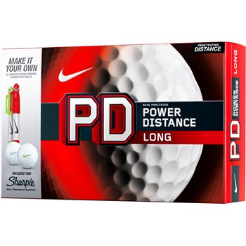 Nike Power Distance Long Sharpie Golf Ball Balls