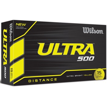 Wilson Ultra 500 Yellow Golf Ball Balls