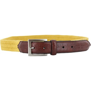Beverly Hills Polo Club Waxed Cotton Braid with Croco Accessories Belts Apparel