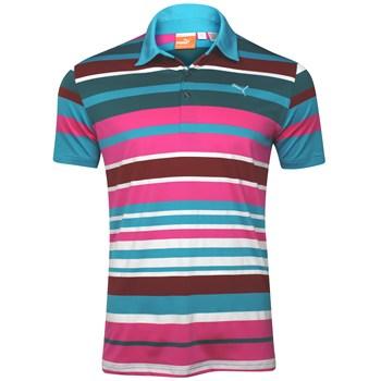 Puma Roadmap Stripe Shirt Polo Short Sleeve Apparel