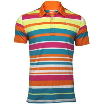 Puma Roadmap Stripe Shirt Polo Short Sleeve Apparel