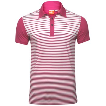 Puma Yarn Dye Stripe Shirt Polo Short Sleeve Apparel