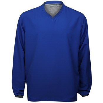 Ashworth Performance Solid V-Neck Windshirt Outerwear Pullover Apparel