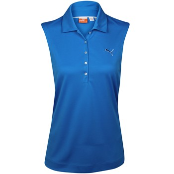 Puma Solid Sleeveless Shirt Polo Short Sleeve Apparel