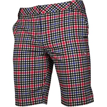 Puma Plaid Tech Bermuda Shorts Flat Front Apparel