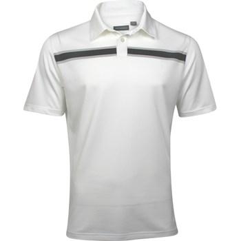 Ashworth EZ-TEC2 Performance Stretch Pique Chest Stripe Shirt Polo Short Sleeve Apparel