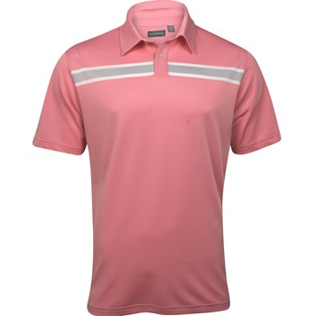 Ashworth EZ-TEC2 Performance Stretch Pique Chest Stripe Shirt Polo Short Sleeve Apparel