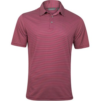 Ashworth EZ-TEC2 Performance Interlock Mini-Stripe Shirt Polo Short Sleeve Apparel