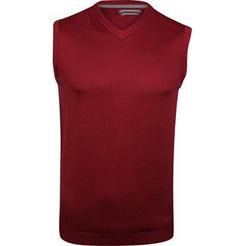 Ashworth Solid Pima V-Neck Outerwear Vest Apparel