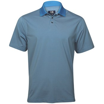Cutter & Buck DryTec Luxe Alder Brook Stripe Shirt Polo Short Sleeve Apparel