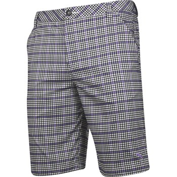 Puma Plaid Tech Shorts Flat Front Apparel