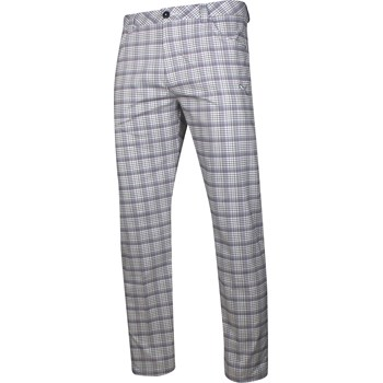 Puma Golf Tech Plaid 5 Pocket Pants Flat Front Apparel