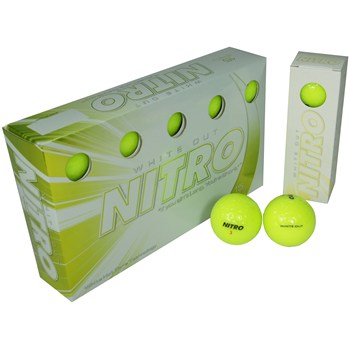 Nitro White Out Yellow Golf Ball Balls