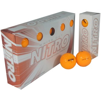 Nitro White Out Orange Golf Ball Balls