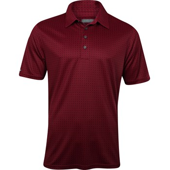 Ashworth EZ-TEC2 Performance Double Knit Print Shirt Polo Short Sleeve Apparel