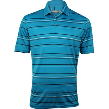 Ashworth EZ-TEC2 Performance Interlock Stripe Shirt Polo Short Sleeve Apparel
