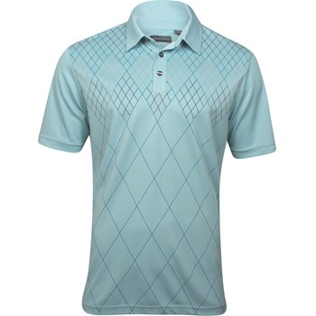 Ashworth EZ-TEC2 Performance Dbl-Knit Front Panel Print Shirt Polo Short Sleeve Apparel