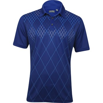 Ashworth EZ-TEC2 Performance Dbl-Knit Front Panel Print Shirt Polo Short Sleeve Apparel