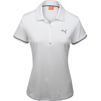 Puma Golf Tech Piped Sleeve Shirt Polo Short Sleeve Apparel
