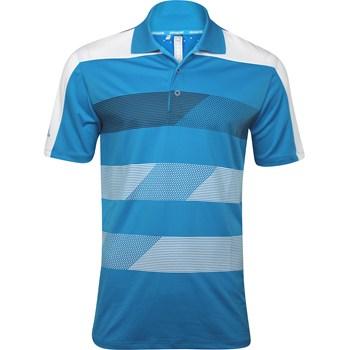 Adidas Climachill Stripe Block Shirt Polo Short Sleeve Apparel