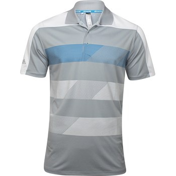 Adidas Climachill Stripe Block Shirt Polo Short Sleeve Apparel