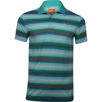 Puma Dry Cell UV Road Map Stripe Shirt Polo Short Sleeve Apparel
