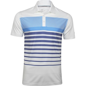 Nike Dri-Fit Stretch Sport Stripe Shirt Polo Short Sleeve Apparel