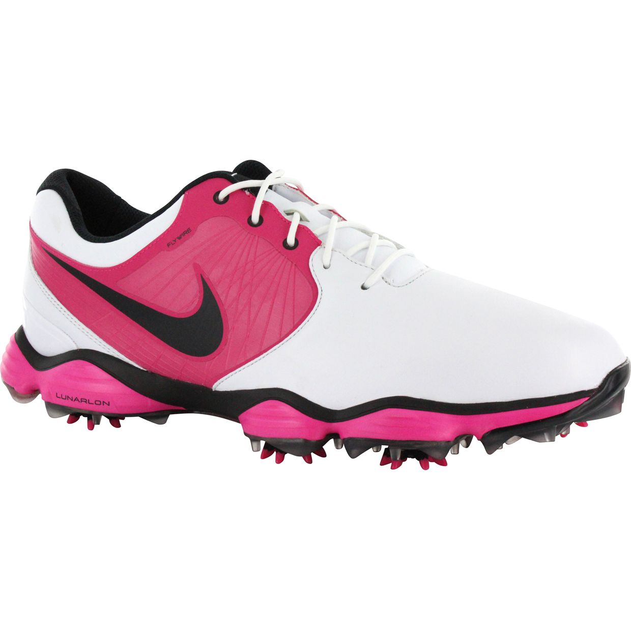nike lunar white black pink 10 medium golf