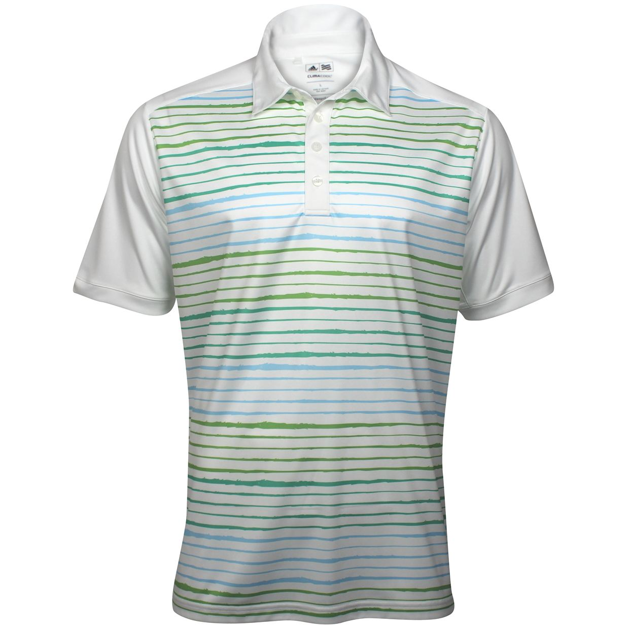 Nwt adidas climacool wood grain printed white island mint for Mint color polo shirt