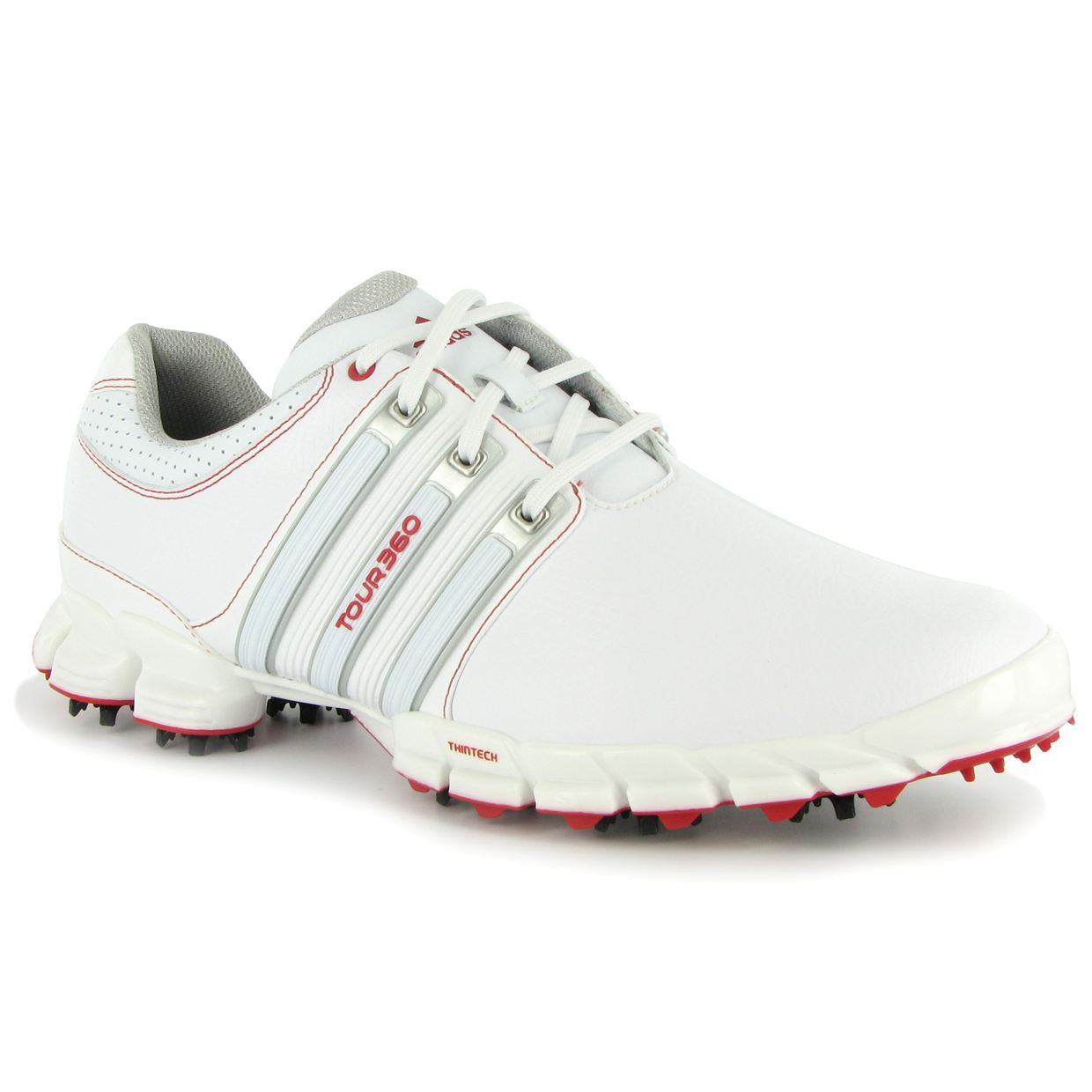 Adidas Golf Tour Atv M Shoes In White Silver