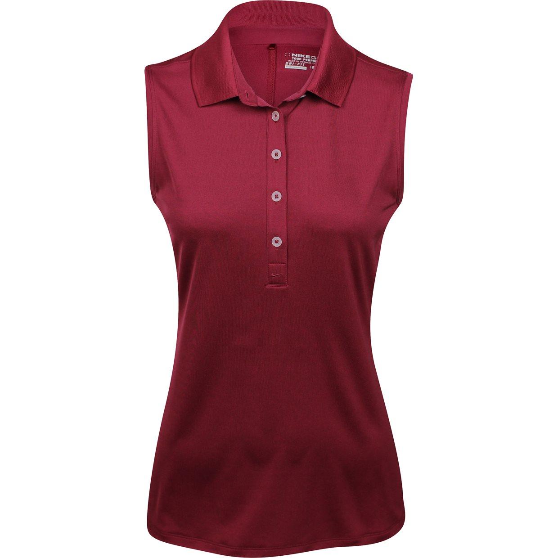 Women nike dri fit victory sleeveless shirt apparel xl gym for Maroon dri fit polo shirt
