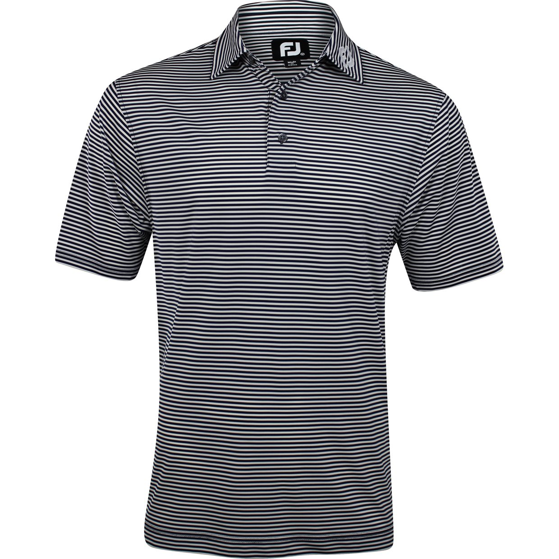 Footjoy prodry perf lisle feeder stripe tour logo collar for Footjoy shirts with titleist logo