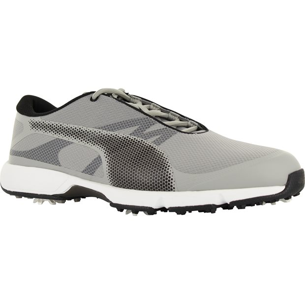 PUMA Golf Men's Ignite Drive Sport Golf Shoe, Drizzle Black White, 8 Medium US