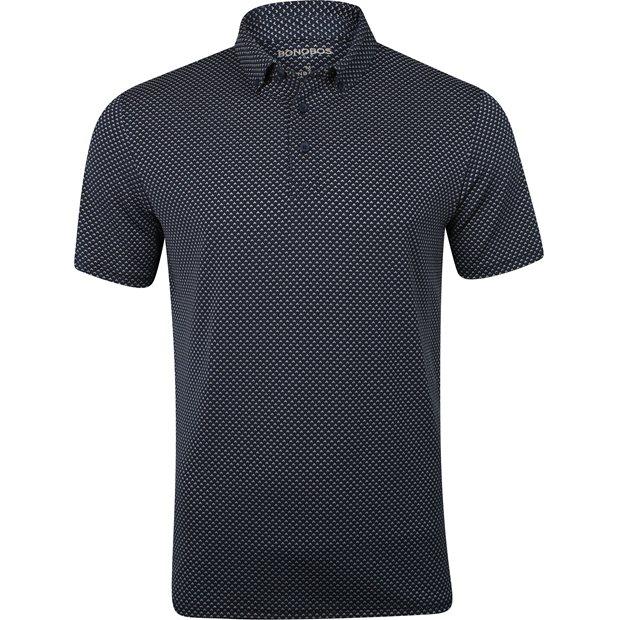 Bonobos Golf Jacquard Flatiron Navy Geo Shirt Men XXL